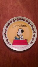 """Snoopy Mother's Day plate 1979"" Schmidt collector plate"