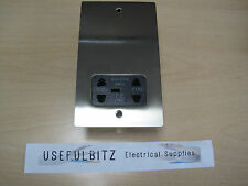 Heritage Brass Electrical Satin Nickel Flat Shaver Socket T05.985.BK