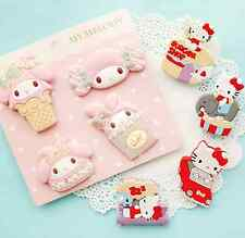 4 random My Melody Cat Rabbit Cartoon Kawaii Cute Clips Food Bag Decorative Clip