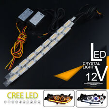 2X 8LED Switchback Car Flexible LED Strip Light DRL Sequential Flow Turn Signal
