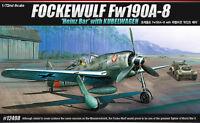 1/72 Academy 12498 FOCKEWULF Fw190A-8 Heinz Bar with KUBELWAGEN Model Kit