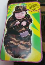 NWT US Army Soldier Bunting Costume Halloween Camouflage 3-6 Months Brown Green