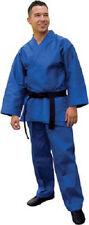 Student Karate Uniform Gi Child Adult Size Gear Blue Tkd Tae Kwon Do Supplies