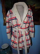 Vintage Handmade Red White Blue Cardigan-L