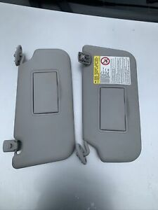 Ford Fiesta MK6 2002-2008 Grey Sun Visors Pair PASSENGER & DRIVERS with Clips