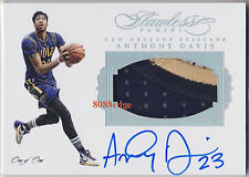 2015-16 FLAWLESS GAME PATCH PLATINUM AUTO: ANTHONY DAVIS #1/1 OF ONE AUTOGRAPH