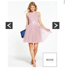Little Mistress Mauve Mesh Backless Dress