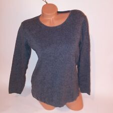 Eileen Fisher Sweater Petite Small Gray Scoop Neck Long Sleeve