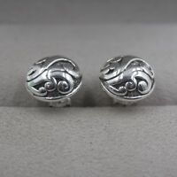 New Pure S925 Sterling Silver Earrings Unique Woman's Stud Earrings