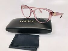 ✳ New Versace MOD 3246-B 5234 Transparent Pink Eyeglasses 52mm with Versace Case