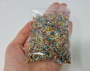 3oz = 85g Multi-Color Silver Lined Glass Rocaille Size 10/0 Seed Beads Crafts