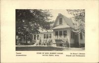 Smiths Ferry MA Mrs Robert Adams Home Postcard
