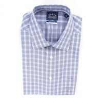 NEW EAGLE BLUE YELOW MULTI PLAID REGULAR FIT NON-IRON DRESS SHIRT