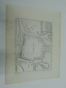 1696. Plan der Stadt /Festung Valence. Nicolas de Fer. Italien.