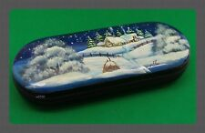 New hard case for glasses. Hand-painted.Russian souvenir. # 20