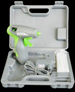 Akku-Heißklebepistole/ Rechargeable Hot-Glue Gun/ grau-grün