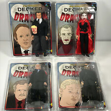 SET (4) Decker vs. Dracula Custom Action Figures tim eric adult swim chrimbus