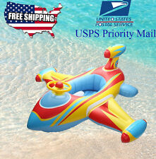 Airplane baby kids toddler inflatable pool Raft Seat Tube Float Summer PoolToy