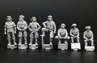 1/72 Resin WW2 Japanese Pilots Set Unassembled Unpainted JP001