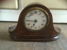 Vintage Art Deco Small Wooden Mantle Clock Spares or repair Antique