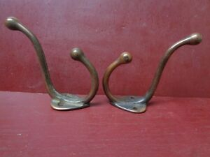 2 ANTIQUE CAST IRON HOOK's SCHOOLHOUSE BARN HOUSE #11