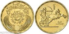 EGYPT , GOLD 100 PIASTRES 1955 REVOLUTION 3RD ANNIVERSARY ( FED ) ,  RARE DATE
