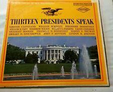 Thirteen Presidents Speak Vinyl LP Record Peoples Drug Store Limited Edition