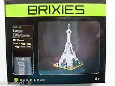 Brixies 200.152 - gro0er Eiffelturm, 3D Puzzle, Minibausteine 257 Teile
