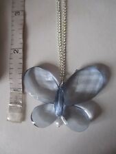 butterfly necklace with silver colour chain, in a box  [ 1097 ]