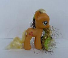 My Little Pony MLP G4 FIM Brushable Rainbow Power Applejack With Tinsel Hair