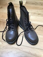 New Ladies Dr Martens Air Wair Boots In Khaki  Size 4