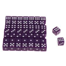 50pcs 12mm Opaque Six Sided Spot Dice Games D6 D&D RPG Wargaming Purple