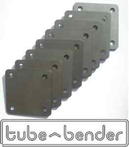 8 (100x100x3mm) Roll Cage Footplates Strengthening, Mounting, Fabrication Steel
