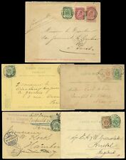 BELGIUM 1879-1903 STATIONERY ENV.+ CARDS...ALL UPRATED + EXTERNAL...5 ITEMS