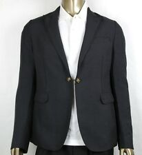 $2950 Gucci Mens Charcoal Wool/mohair Formal Evening Jacket 1 Button 406543 1165