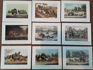 Set 9 Stage Coach Prints Royal Mail Art Transportation James Pollard 1800s Repro