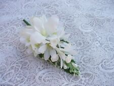 Wedding flower buttonhole ivory orchid..... PIN ON
