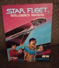 FASA Star Trek RPG Star Fleet Intelligence Manual - 1987