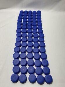 75 Aquafina Plastic Bottle Caps Lids Screw Top Plain Blue Arts & Crafts Crafting