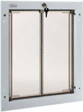 PlexiDor Performance Pet Doors for Dogs and Cats - Door Mount Dog Door with Lock