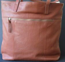 John Lewis Tote Bag~Brown leather~Used~Clean~VG condition