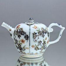 Meissen um 1730: seltene Teekanne mit Blaumalerei, Gold und Blumen, Ferner Kanne