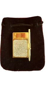 Judith Leiber Gold & Crystal Note Pad with Pen Excellent Condition