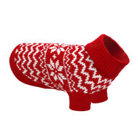 Warm Pet Dog Puppy Clothes Knitted Dog Sweater Jumper for Small Dogs Red