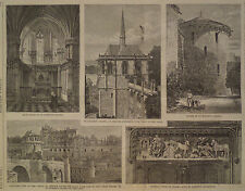 St Hubert's Chapel Midieval at Amboise France 1875 Harper's Weekly