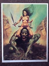 Erotic Fantasy Art Print Pinup Blas Gallego 1993 Vintage Nude Sexy Naked Woman