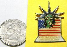 Assoc For Lutherans Lapel Pin T02 Statue Of Liberty Head Us Flag Aid