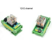 2 Channel OMRON Relay Module SPDT 2 Ways Driver Board Socket DC 12V 16A 1NO+1NC