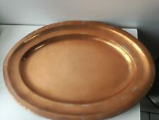Antique Tray Oval Copper Lunchbox Serving Plate 45cm