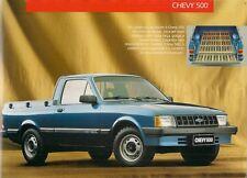 CHEVROLET CHEVY 500 DL PICK-UP 1992-93 mercato brasiliano VOLANTINO BROCHURE DI VENDITA